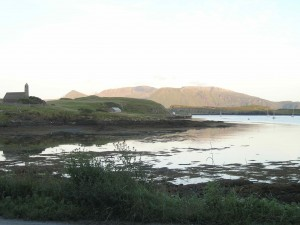 View of Rum across Canna Harbour